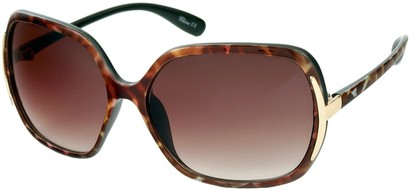 Angle of Somerset #206 in Brown and Pink Tortoise, Women's Round Sunglasses
