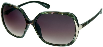 Angle of Somerset #206 in Green and Pink Tortoise, Women's Round Sunglasses