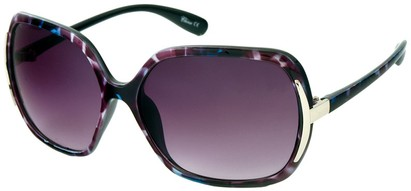 Angle of Somerset #206 in Purple and Blue Tortoise, Women's Round Sunglasses