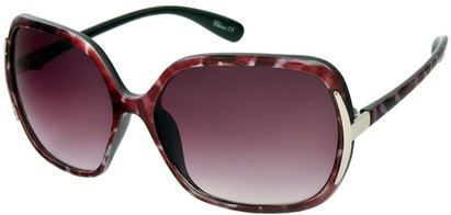 Angle of Somerset #206 in Red and Pink Tortoise, Women's Round Sunglasses
