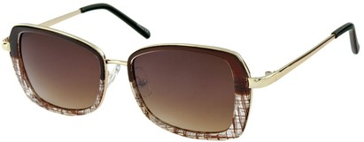 Angle of SW Retro Style #1677 in Brown and Clear, Women's and Men's
