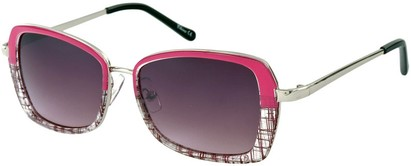 Angle of SW Retro Style #1677 in Pink and Clear, Women's and Men's
