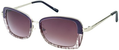 Angle of SW Retro Style #1677 in Purple and Clear, Women's and Men's
