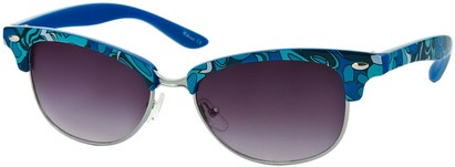 Paisley Print Cat Eye Sunglasses