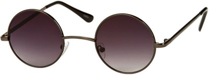 Angle of London #1707 in Grey Frame with Dark Smoke Lenses, Women's and Men's Round Sunglasses