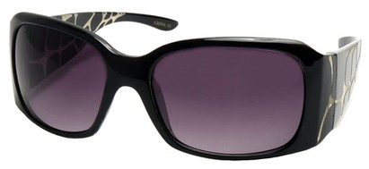Angle of SW Croc Style #31049 in Black Frame, Women's and Men's