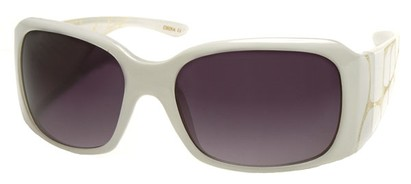 Angle of SW Croc Style #31049 in White Frame, Women's and Men's