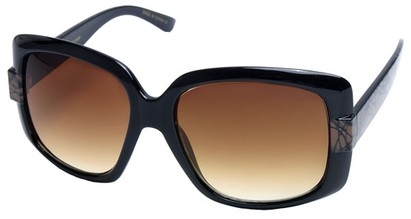 Angle of SW Oversized Style #4200 in Black and Brown Graffiti Frame, Women's and Men's