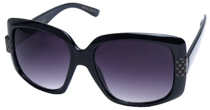 Angle of SW Oversized Style #4200 in Black and Checkered Frame, Women's and Men's