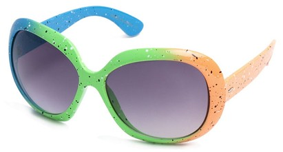 Angle of SW Neon Style #31136 in Blue, Green & Orange, Women's and Men's