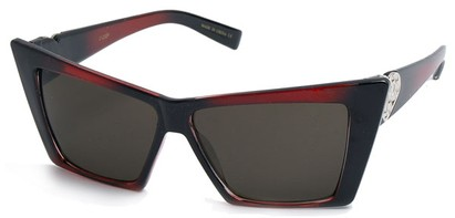 Angle of SW Celebrity Style #31202 in Red and Black Frame, Women's and Men's