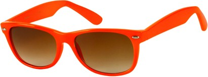 Angle of SW Neon Retro Style #1610 in Neon Orange Frame, Women's and Men's