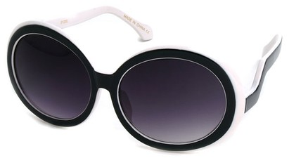 Angle of SW Oversized Style #522 in Black and White Frame, Women's and Men's