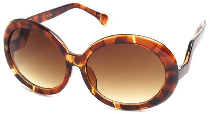 Angle of SW Oversized Style #522 in Tortoise Frame, Women's and Men's
