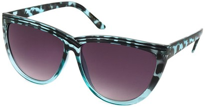 Angle of SW Cat Eye Style #1162 in Blue Tortoise Frame, Women's and Men's