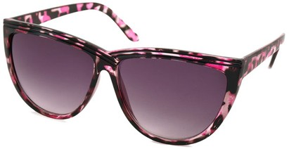 Angle of SW Cat Eye Style #1162 in Pink Tortoise Frame, Women's and Men's