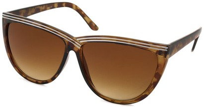 Angle of SW Cat Eye Style #1162 in Brown Tortoise Frame, Women's and Men's