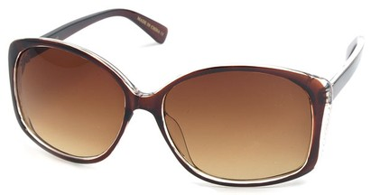 Angle of SW Oversized Style #890 in Brown Frame, Women's and Men's