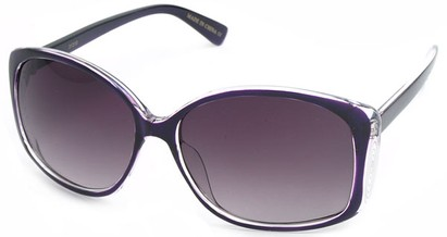Angle of SW Oversized Style #890 in Purple Frame, Women's and Men's