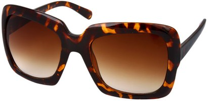 Angle of SW Oversized Celebrity Style #1198 in Brown Tortoise Frame, Women's and Men's