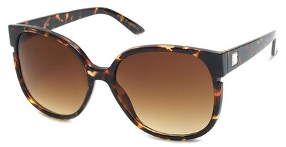 Angle of SW Oversized Style #228 in Brown Tortoise, Women's and Men's
