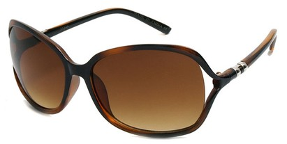 Angle of SW Oversized Style #5076 in Brown Tortoise, Women's and Men's