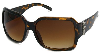 Angle of SW Oversized Rock Star Style #4111 in Brown Tortoise, Women's and Men's
