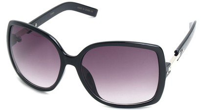 Angle of SW Square Style #1186 in Black Frame, Women's and Men's