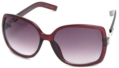Angle of SW Square Style #1186 in Red Frame, Women's and Men's