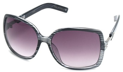 Angle of SW Square Style #1186 in Grey Stripe Frame, Women's and Men's