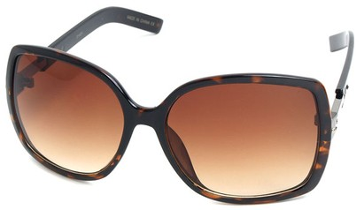 Angle of SW Square Style #1186 in Tortoise Frame, Women's and Men's