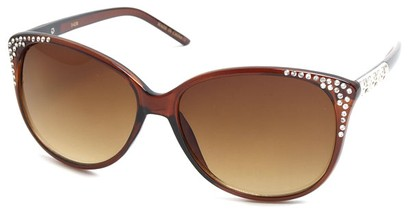 Angle of SW Cat Eye Style #3090 in Brown Frame, Women's and Men's