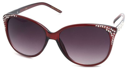 Angle of SW Cat Eye Style #3090 in Red Frame, Women's and Men's