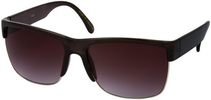 Angle of SW Retro Style #13455 in Clear Grey Frame with Smoke Lenses, Women's and Men's