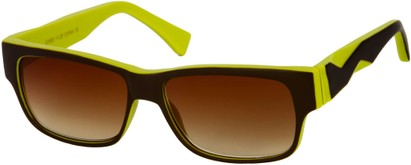 Angle of SW Sun Reader Style #31602 in Brown/Lime Green, Women's and Men's