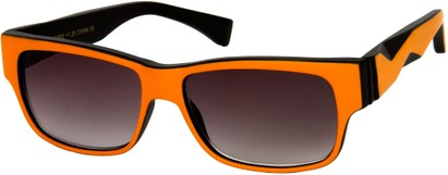 Angle of SW Sun Reader Style #31602 in Orange/Black, Women's and Men's