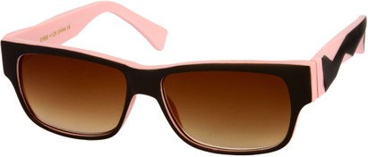 Angle of SW Sun Reader Style #31602 in Brown/Pink, Women's and Men's