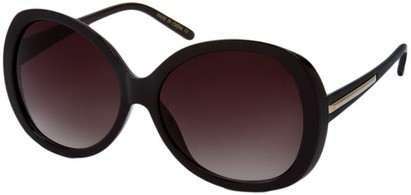 Angle of SW Round Style #31099 in Black Frame, Women's and Men's