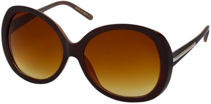 Angle of SW Round Style #31099 in Brown Frame, Women's and Men's