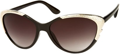 Angle of SW Cat Eye Style #1595 in Black Frame, Women's and Men's