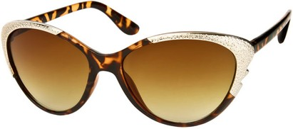 Angle of SW Cat Eye Style #1595 in Brown Tortoise Frame, Women's and Men's