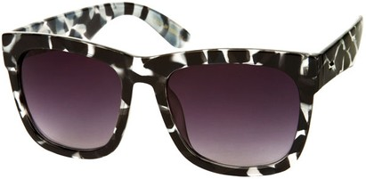 Angle of SW Rock Star Style #2066 in Black/Clear Geometric Print Frame, Women's and Men's