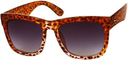Angle of SW Rock Star Style #2066 in Red Cheetah Print Frame, Women's and Men's