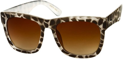 Angle of SW Rock Star Style #2066 in Brown/White Giraffe Print Frame, Women's and Men's