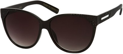 Angle of SW Cat Eye Style #9125 in Solid Black Frame, Women's and Men's