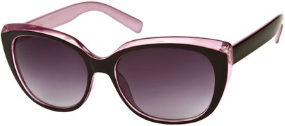 Angle of SW Two-Tone Cat Eye Style #543 in Black/Light Purple Frame, Women's and Men's
