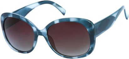 Angle of SW Oversized Style #92 in Blue Frame, Women's and Men's