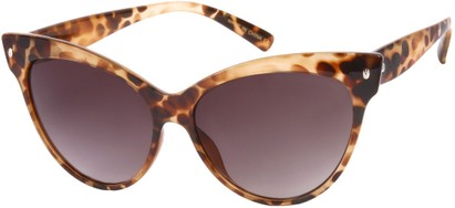 Angle of SW Cat Eye Style #9947 in Brown Tortoise Frame, Women's and Men's