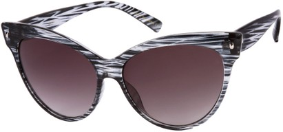 Angle of SW Cat Eye Style #9947 in Grey Stripe Frame, Women's and Men's