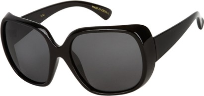 Angle of SW Polarized Oversized Style #4270 in Black Frame with Grey Lenses, Women's and Men's